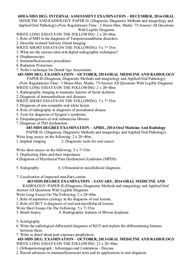 ntruhs mds question papers from oral medicine  4