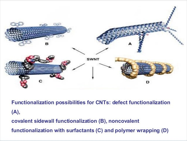 functionalization of carbon nanotubes thesis Supramolecular functionalization of single walled carbon nanotubes with conjugated polymers thesis overall conclusions and recommendations for future work.