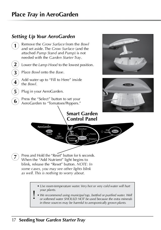 Garden Starter Tray Planting Growing Guide 400 x 300