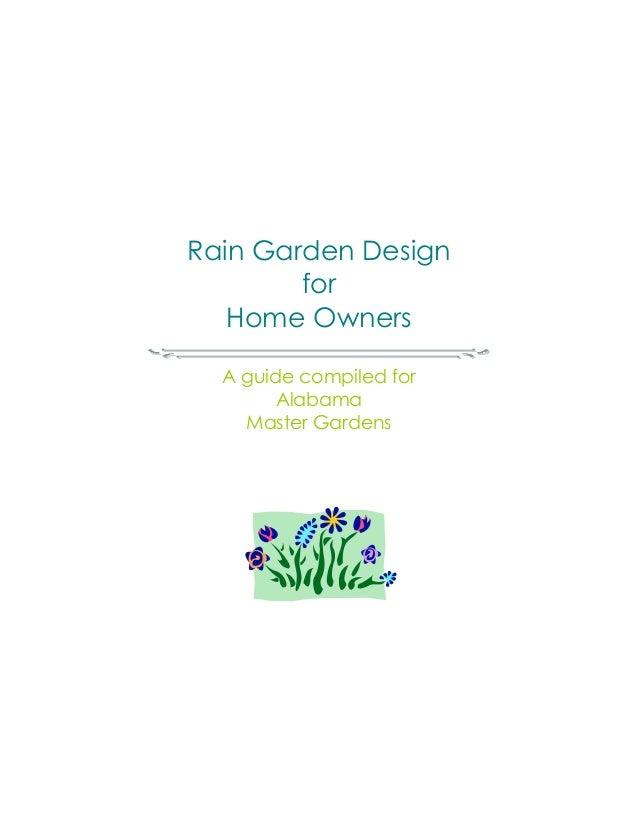 Alabama rain garden design for home owners guidebook for Home rain garden design