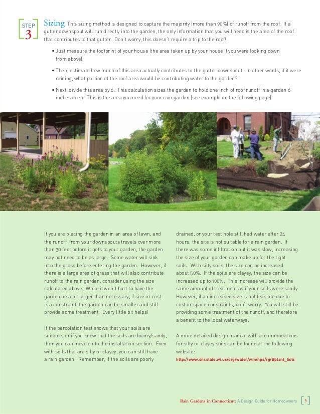 Connecticut Rain Gardens Manual A Design Guide For