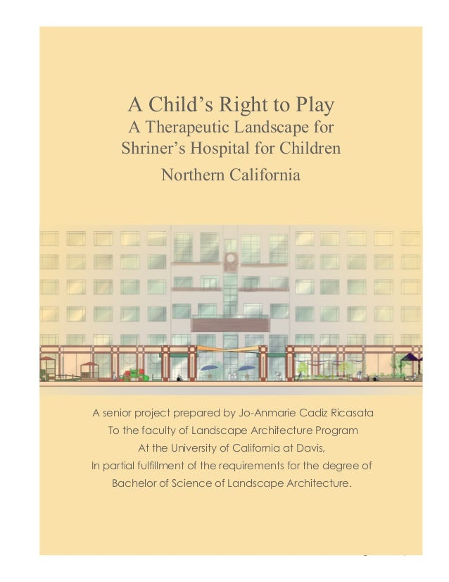 A Childs Right to Play A Therapeutic Landscape