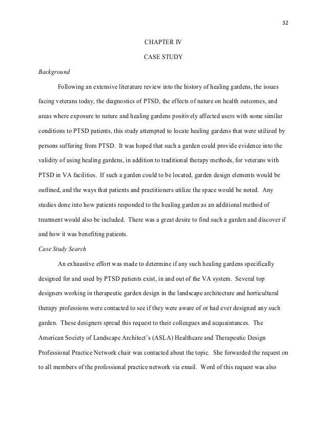 case study over ptsd Abstract this paper is a case study on a client who has been diagnosed with post traumatic stress disorder (ptsd) from the vietnam war a narrative case description is included, which supports the clinical diagnosis and as well as an empirical.