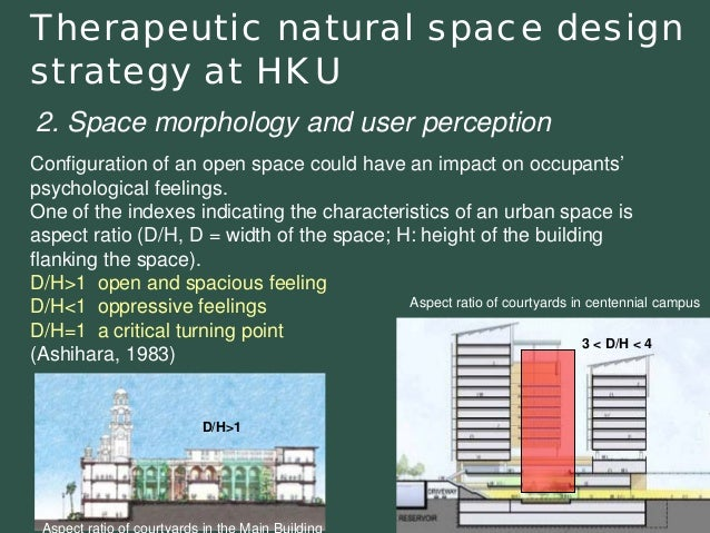 Therapeutic natural space design strategy at HKU  Configuration of an open space could have an impact on occupants'psychol...