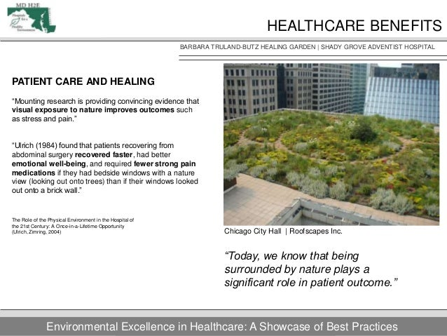Healthcare Patient Room Design Exposure To Nature