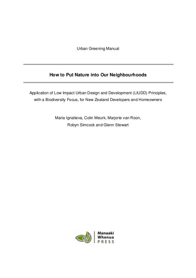 Urban Greening Manual: How to Put Nature into Our Neighbourhoods Slide 3