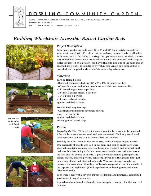 Building wheelchair accessible raised garden beds for Building a wheelchair accessible home