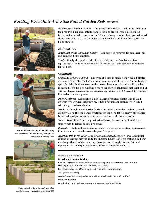 Building Accessible Raised Beds