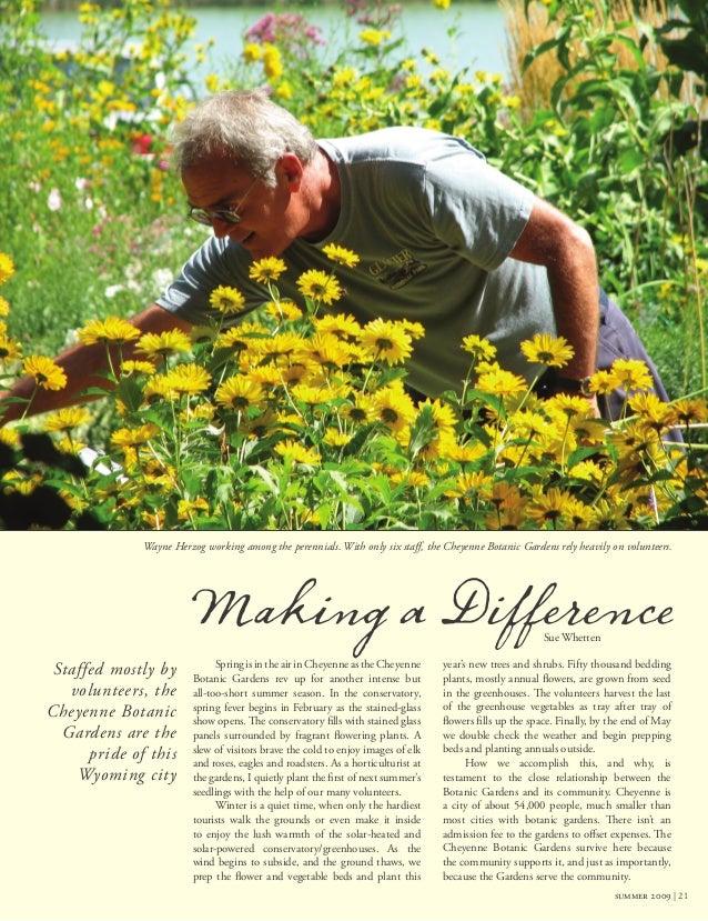 Garden Therapy Different Garden Ideas: Cheyenne Botanic Gardens Horticultural Therapy Promgram