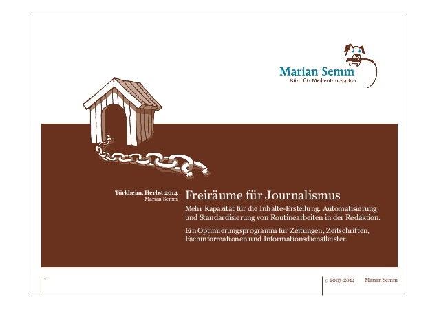 Freiräume für Journalismus. Slide 2