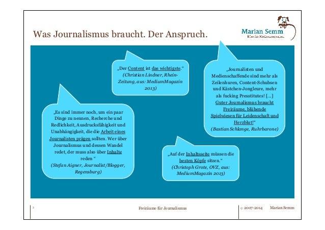 Freiräume für Journalismus. Slide 3