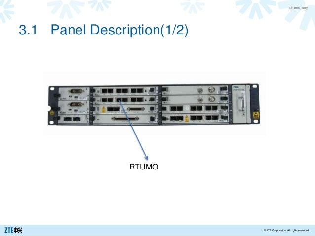 >Internal only © ZTE Corporation. All rights reserved. 3.1 Panel Description(1/2) RTUMO