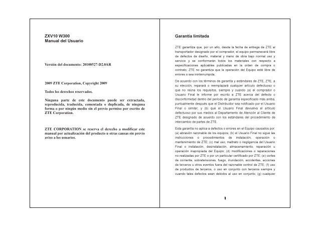 zxv10 w300 user manual spanish espa ol rh slideshare net Risk Manual Spanish Spanish User Manual