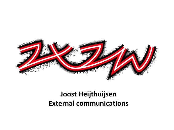 Joost Heijthuijsen External communications