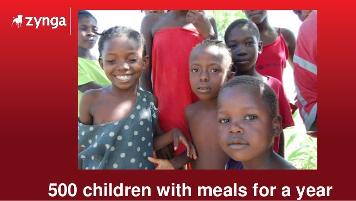500 children with meals for a year