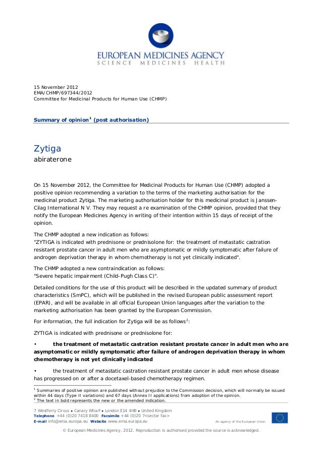 15 November 2012EMA/CHMP/697344/2012Committee for Medicinal Products for Human Use (CHMP)Summary of opinion 1 (post author...