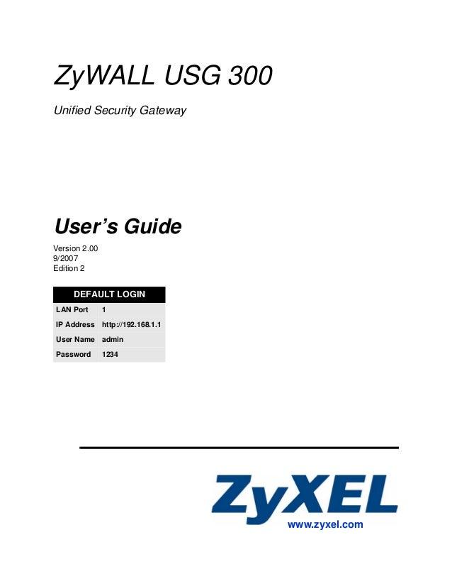 Zy wall usg 300 2.0_ed2