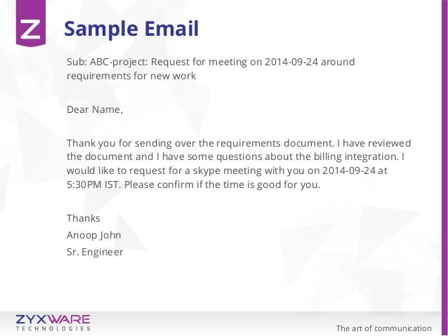 Formal Letter Ask For Meeting. Letter Sample Business Letter ...