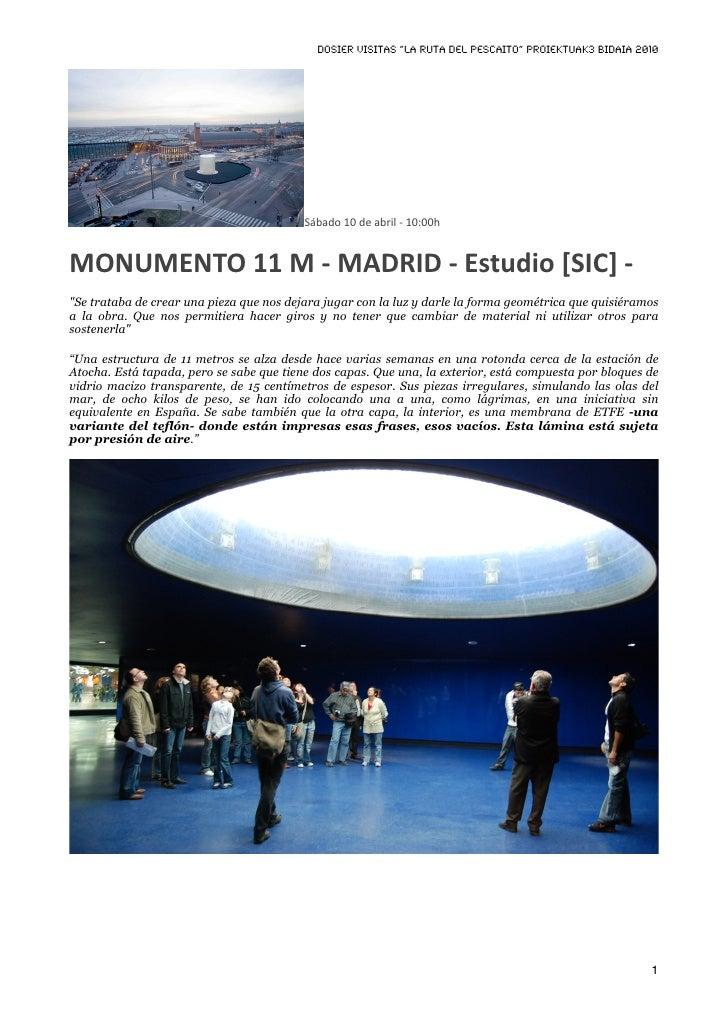 """DOSIER VISITAS """"La ruta del pescaito"""" PROIEKTUAK3 BIDAIA 2010                                               Sábado10dea..."""