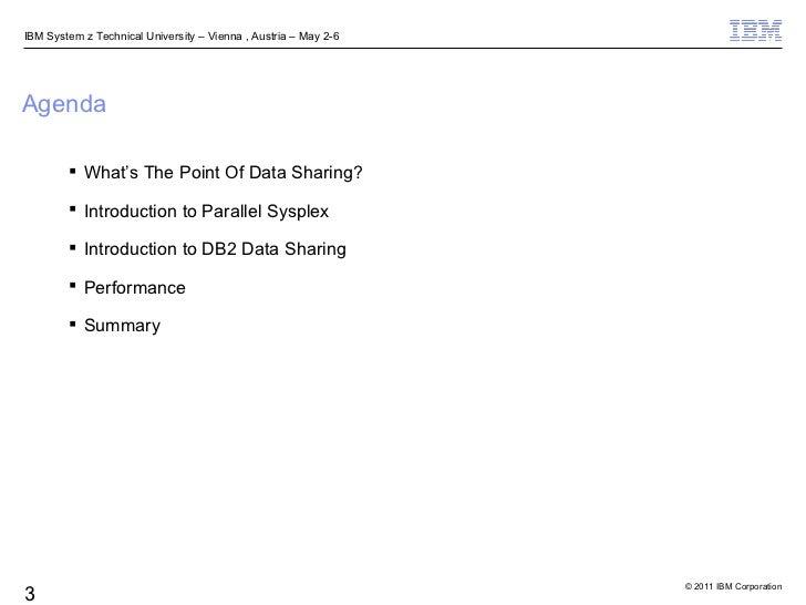 DB2 Data Sharing Performance for Beginners Slide 3