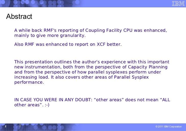 Parallel Sysplex Performance Topics Slide 2