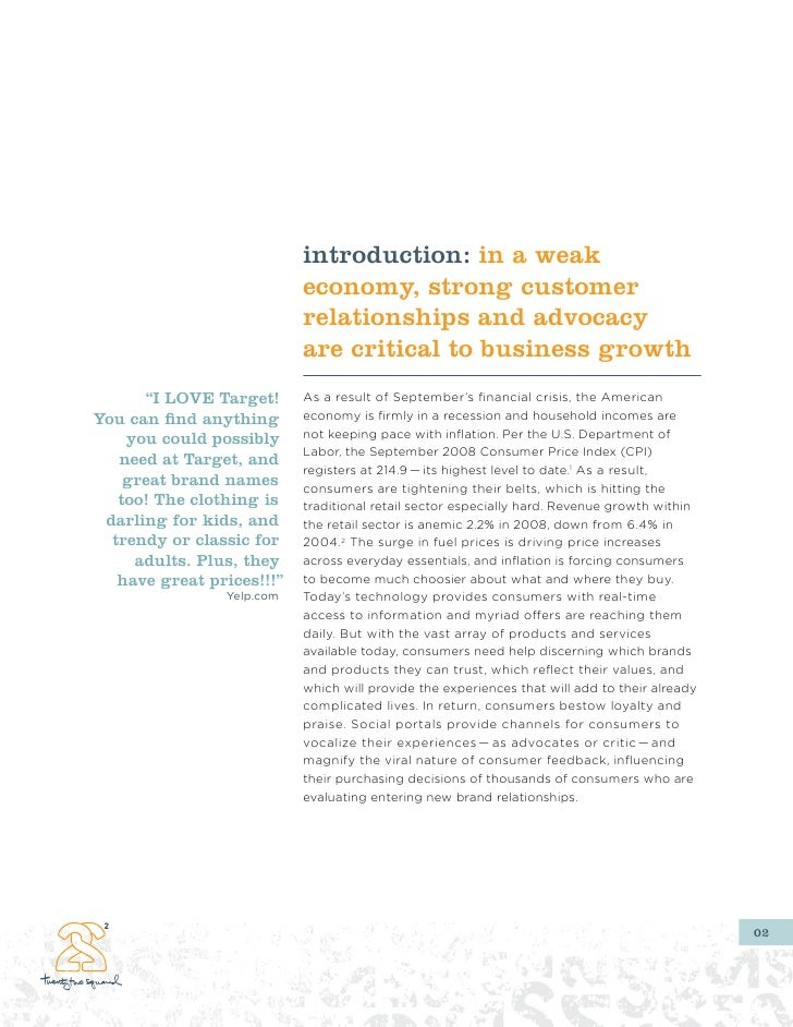 introduction: in a weak                            economy, strong customer                            relationships and a...