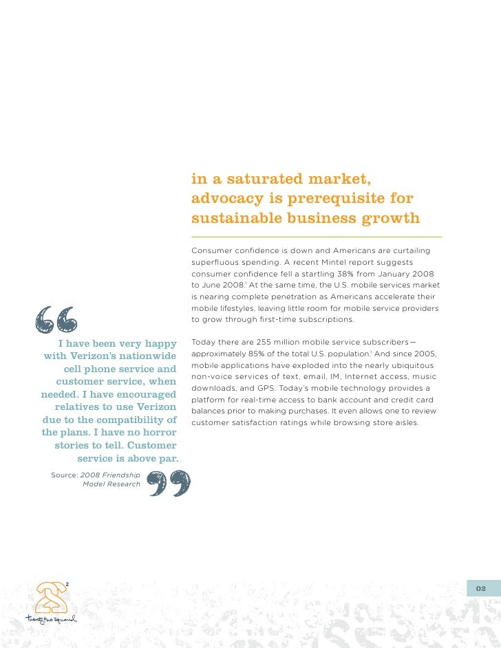 in a saturated market,                                 advocacy is prerequisite for                                 sustai...
