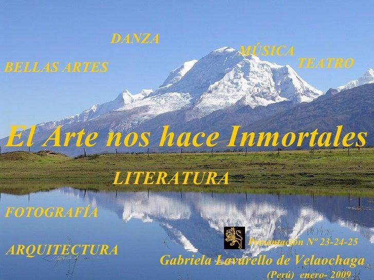 BELLAS ARTES   DANZA TEATRO El Arte nos hace Inmortales  FOTOGRAFÍA  MÚSICA ARQUITECTURA LITERATURA Presentación Nº 23-24-...